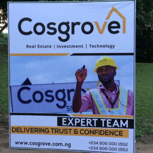 Cosgrove Banner Sign